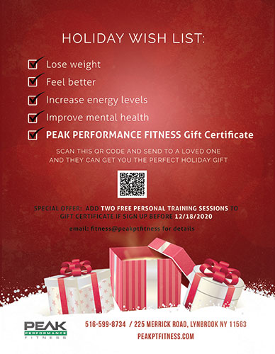 Holiday Gift Certifcates
