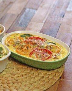Tomato & Butternut Squash Quiche