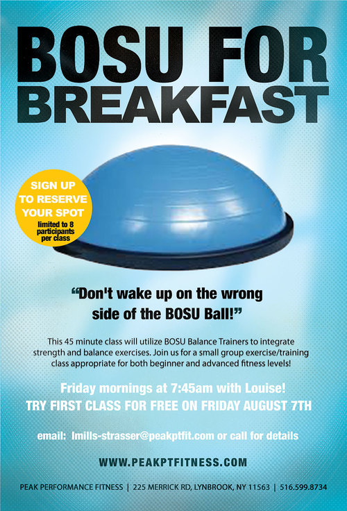 Bosu For Breakfast