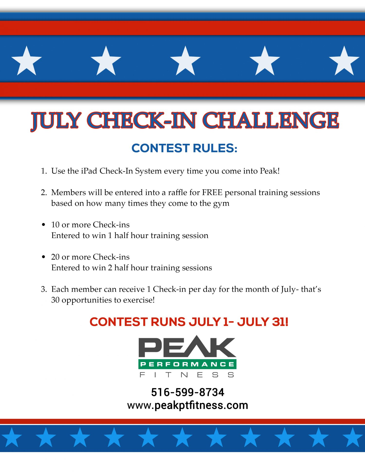 Check-In Challenge July 2016