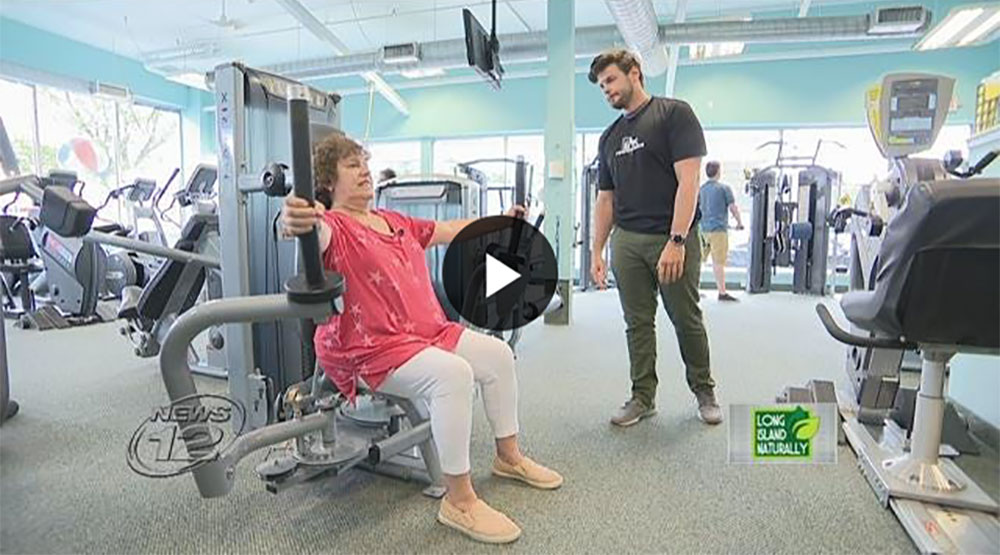 """Peak Fitness featured on News 12's """"Long Island Naturally: Workout Routines"""""""